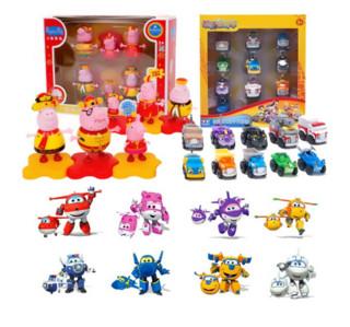 AULDEY 奥迪双钻  超级飞侠系列 儿童玩具套装(飞侠 8款+小猪佩奇 6款+宠物车 10款)