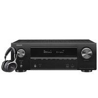 天龙(DENON)AVR-X1600H家庭影院7.2声道AV功放机+ AH-GC25WBK头戴式发烧音乐无线蓝牙耳机 黑色