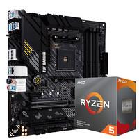 京东PLUS会员:ASUS 华硕 TUF GAMING B450M-PRO S重炮手主板 + AMD Ryzen 5 3600 盒装CPU处理器 板U套装