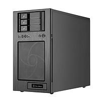 银欣SilverStone CS330 NAS存储机箱/铝面板/支持M-atx/120水冷