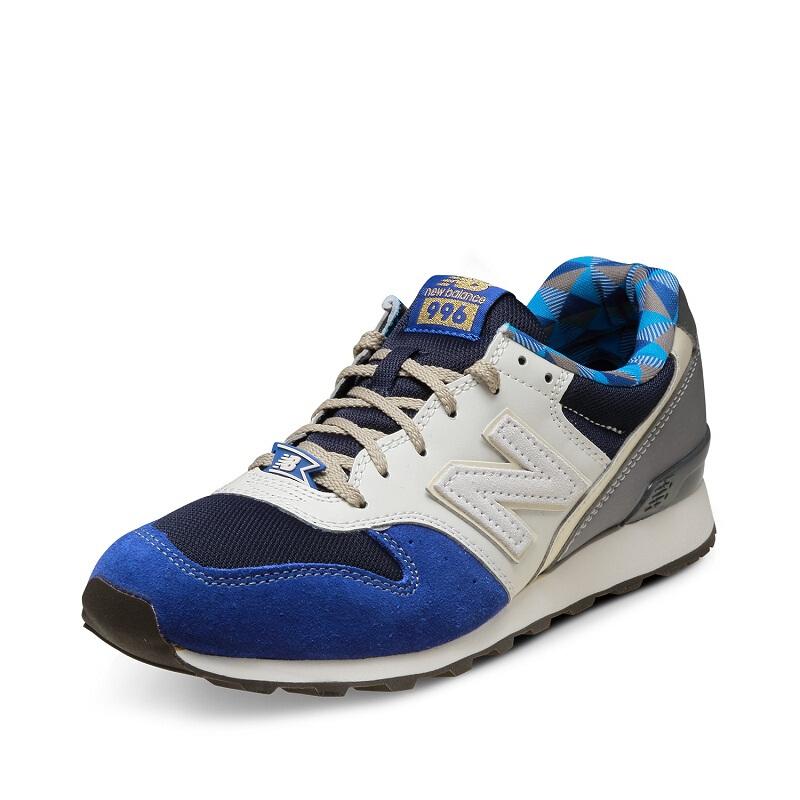 new balance WR996系列 女士运动鞋 WR996GM 蓝色/米色 37