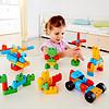 德国(Hape)儿童玩具塑料积木大颗粒拼插积木可机洗宝宝玩具男孩女孩礼物米兔联合产品80粒 1岁+ M0010