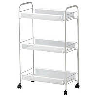 IKEA 宜家 HORNAVAN 霍纳文 浴室推车 白色 48*26*77cm