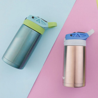 contigo 保温杯康迪克二代小发明家儿童保温吸管杯-不锈钢杯蓝色杯盖400ml HBC-GIZ117