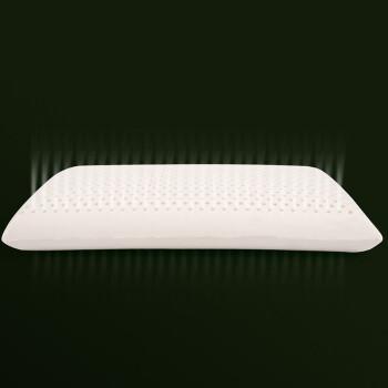 水星家纺 枕头 泰国进口乳胶枕芯 释压按摩颗粒 天然直采 泰舒适泰国天然乳胶枕