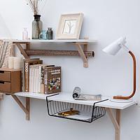 北欧原素简易墙上置物书架简约现代书房卧室隔板花架ins装饰壁架
