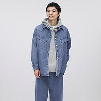 GU 极优 332807 男装牛仔衬衫外套(水洗产品)