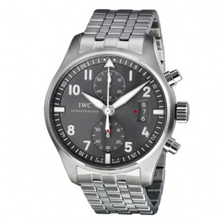 IWC 万国  飞行员系列 IW387804 男士机械手表 43mm 黑盘 银色不锈钢带 圆形