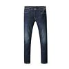 HLA 海澜之家 男士棉质微弹直筒拉链牛仔长裤HKNAD3Q161A 牛仔蓝过渡色 35