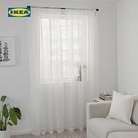 IKEA宜家IRMALI宜馬力窗簾2幅白色點點145x250