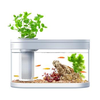 畫法幾何 C180 兩棲生態懶人魚缸 霜白色 383*166*229mm