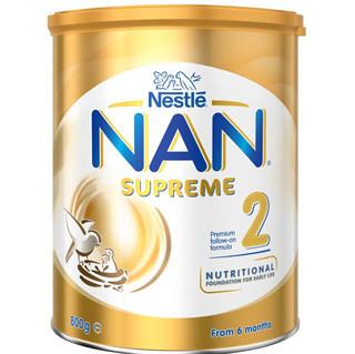 澳洲进口 雀巢(Nestle)超级能恩SUPREME婴幼儿奶粉2段 (6-12个月) 800g/罐