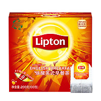 Lipton 立顿 红茶袋泡茶 100包