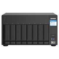 威聯通(QNAP)TS-832PX 4G八盤位企業級nas雙萬兆網絡存儲服務器私有云存儲磁盤陣列