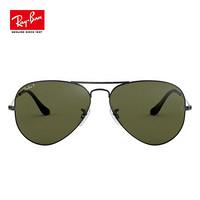 Ray-Ban 雷朋 经典飞行员系列 0RB3025 黑色镜框绿色偏光镜片