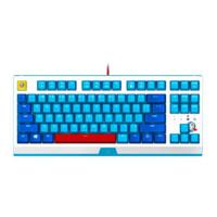 RAZER 雷蛇 哆啦A梦 50周年限定款 87键 有线机械键盘 蓝色 雷蛇绿轴 单光