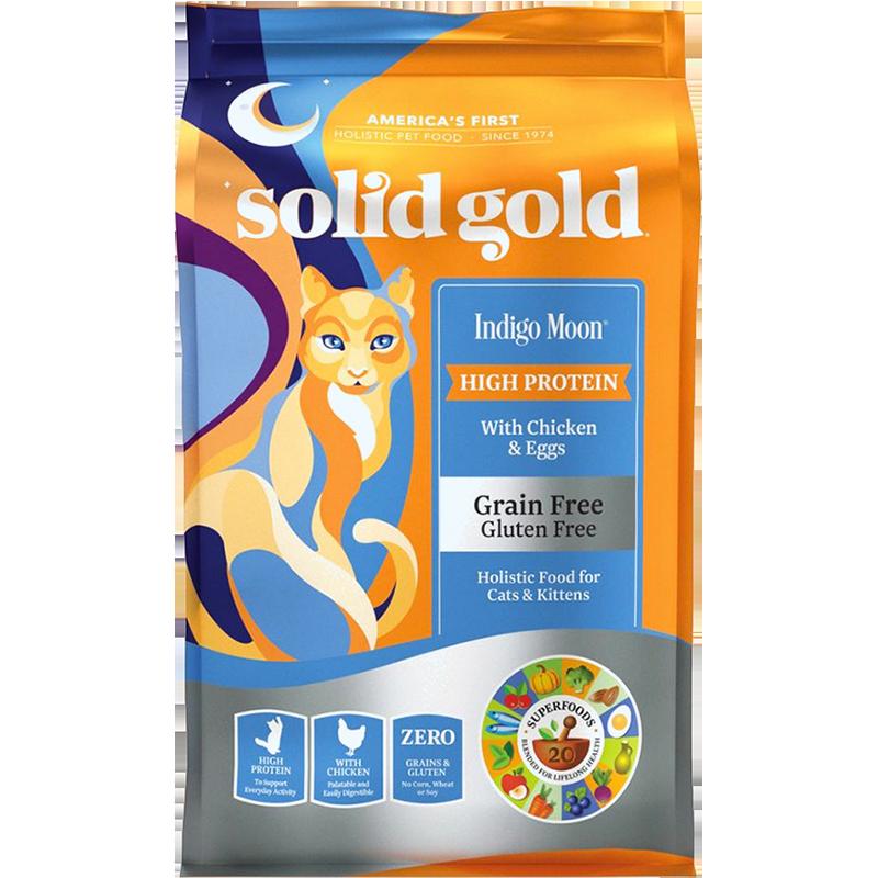 solid gold 素力高 Indigo moon系列 无谷鸡肉全阶段猫粮 1.36kg