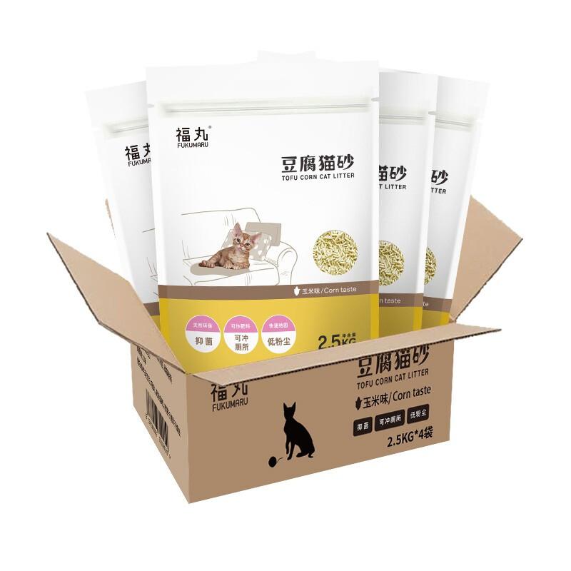 FUWAN 福丸 豆腐猫砂 2.5kg*4包 玉米味