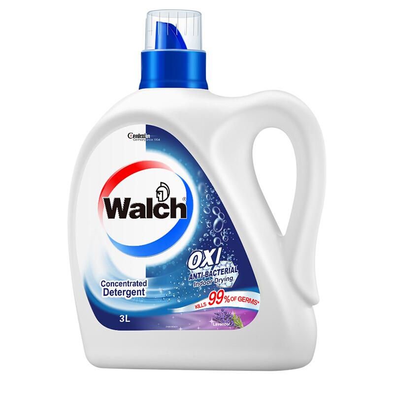 Walch 威露士 有氧洗衣液+免洗洁手液套装 3kg瓶装+1kgx3袋+20ml  薰衣草香