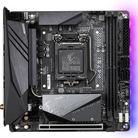 技嘉 H470I AORUS PRO AX 主板 支持WIFI6/3070/3080/10600KF/10700F/10700(Intel H470/LGA 1200)