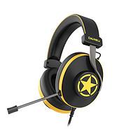 Dareu 达尔优 EH745 耳罩式头戴式降噪耳机 黑黄 USB接口版