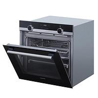 西門子 71L 搪瓷內膽氧化自清潔3D智能熱風嵌入式烤箱 HB556GES0W