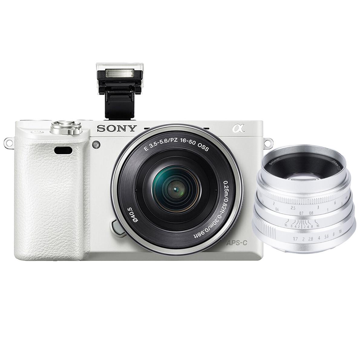SONY 索尼 A6000 微单单头套机 白色(16-50mm、F3.5-5.6)