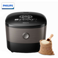 飛利浦(PHILIPS) 電飯煲 家用五谷雜糧電飯鍋 智芯IH加熱技術智能預約 HD4561/00多功能液晶顯示4L大容量3-5人