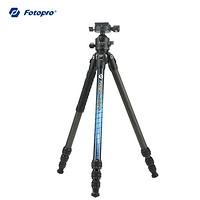 富图宝(Fotopro)P4+P-4H 纯碳纤维三脚架 全景云台索尼佳能尼康数码相机三脚支架 极光版