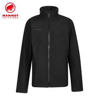 MAMMUT猛犸象Ayako男士防風防水透氣舒適硬殼夾克外套 黑色 XL