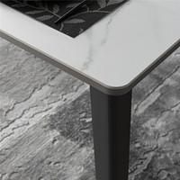 芝华仕 现代轻奢岩板餐桌椅组合极简可伸缩折叠 PT027  一桌四椅
