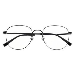 MIJIA 米家 黑色钛金属眼镜框 防蓝光镜片