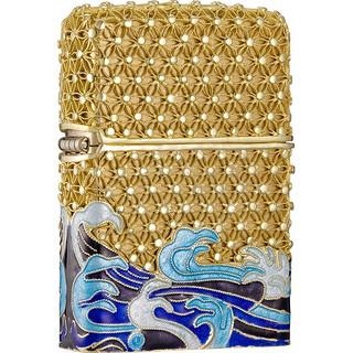 ZIPPO 之宝 ZCBEC-70 打火机+花丝金盒套装 金丝镶嵌招财水纹