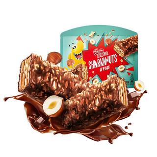 Nestlé 雀巢 雀巢(Nestle)脆脆鲨 鲨刻能坚果榛果口味 大块坚果 威化饼干休闲零食分享装200g