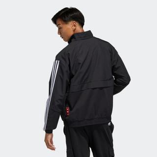 阿迪达斯官网 adidas CNY JKT SOUTH 新年款男装训练运动夹克外套GP1823 黑色/黑色/白 A/XS(170/88A)