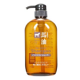 Horse oil 熊野油脂 无硅油马油洗发水 600ml