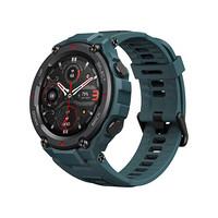 AMAZFIT 华米 T-Rex Pro 智能手表 47.7mm 黑色 湖光蓝硅胶表带 (北斗、GPS、NFC、血氧)