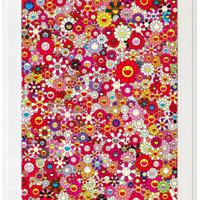 墨斗鱼艺术 村上隆《红色致敬克莱因》53*68.9cm装饰画 版画