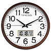 TIMESS 圆形挂钟 P36-A 白色 15英寸 日历款