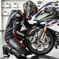 BERIK连体皮衣摩托车骑行服连体重机车服赛车装备男大眼赛道皮衣