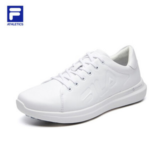FILA ATHLETICS斐乐Swing 1911女鞋2021春季真皮高尔夫鞋 斐乐白-FW 35.5