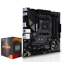 ASUS 华硕 TUF GAMING B450M-PRO S 主板 + AMD R5-5600X 盒装CPU处理器 套装