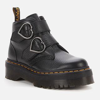 Dr. Martens Devon Heart 女士皮革踝靴