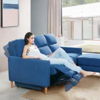 Lazboy 乐至宝  GN.603 现代简约布艺沙发组合 三人位+凳 蓝色