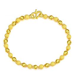 CHJ JEWELLERY 潮宏基 SCG30000809 转运珠黄金手链 约5.95g