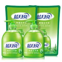 Bluemoon 蓝月亮 芦荟抑菌洗手液 2瓶装+2补充装500g*4