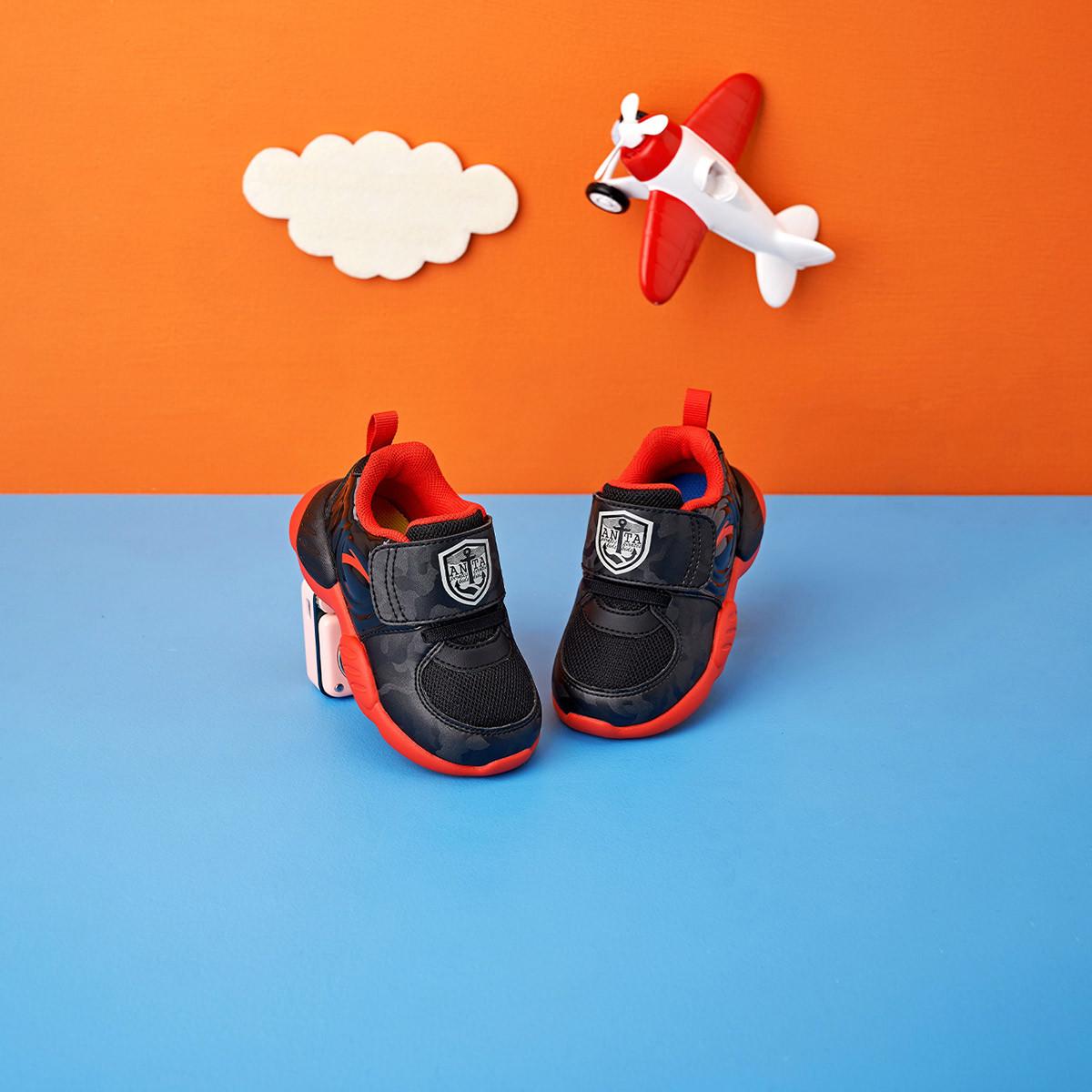 ANTA 安踏 婴幼童机能鞋 A33043503 黑/大学红-2 23