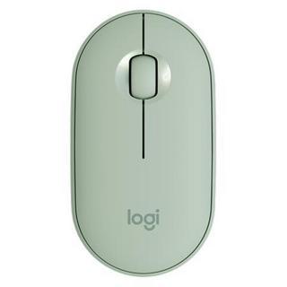 logitech 罗技 Logitech 罗技 Pebble 2.4G蓝牙 双模无线鼠标 1000DPI 薄荷绿