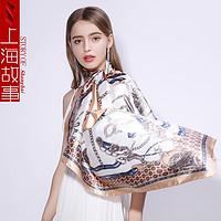 京东PLUS会员:shanghai story 上海故事 仿丝大方巾2专推 女士缎面丝巾