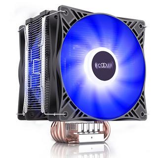PCCOOLER 超频三 东海X6CPU散热器双风扇电脑台式机CPU风扇1150/1151/AM4 蓝色